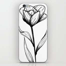 Lone Tulip iPhone Skin