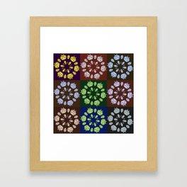 Carved Pumpin Kaleidoscope Pattern Framed Art Print