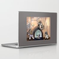 schnauzer Laptop & iPad Skins featuring Schnauzer by Michelle Behar