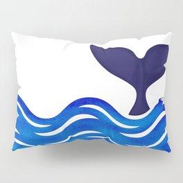 Blue Whale Tail Pillow Sham