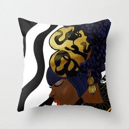 MAKEDA'S CROWN Throw Pillow