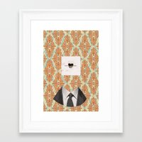 mouth Framed Art Prints featuring mouth. by XXXX