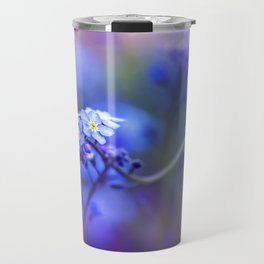 Forget-Me-Not Myosotis Flower Travel Mug