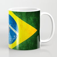 brazil Mugs featuring Flags - Brazil by Ale Ibanez