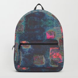 Toppled Ceramic Tiling Infared Style Backpack