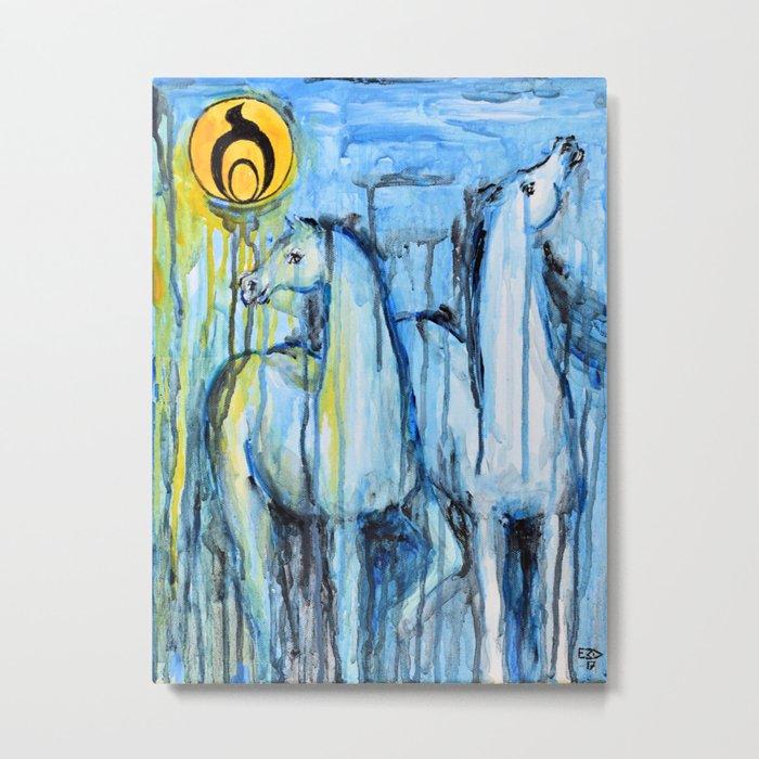 Empowerment: Spirit Horses Rise Metal Print