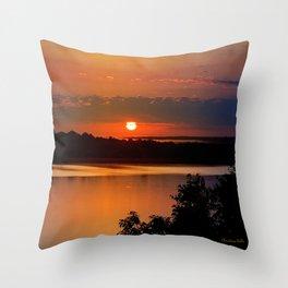 Sunrise Lake Throw Pillow