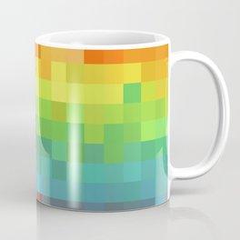 Pixel Rainbow Coffee Mug