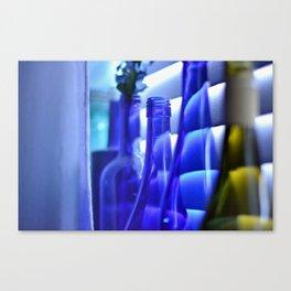 Blue Bottles - 1 Canvas Print