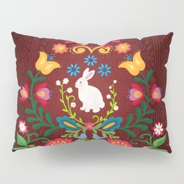 Bunny Of The Flowers Pillow Sham