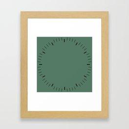 Green little marks Framed Art Print