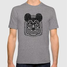 Mouse Clown Tri-Grey Mens Fitted Tee LARGE