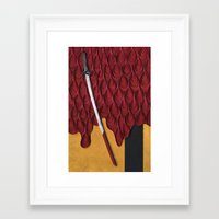 kill bill Framed Art Prints featuring Kill Bill by yakawonis