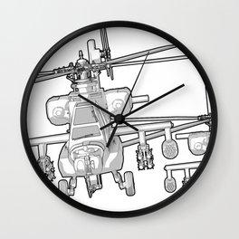 Apache's flying Toon Render Wall Clock