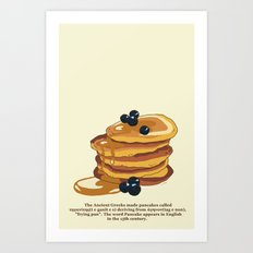 Fluffy Pancakes Art Print