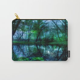 Enchanted Forest Lake Green Blue Carry-All Pouch