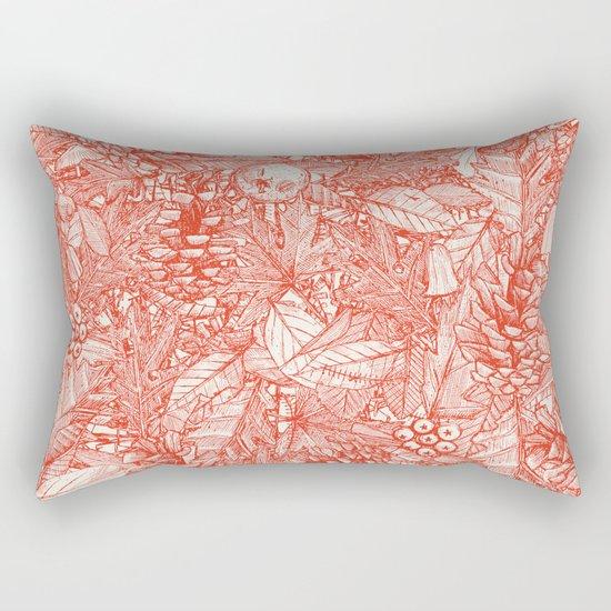 forest floor fire orange ivory Rectangular Pillow by Sharon Turner Society6