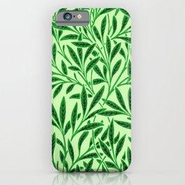 William Morris Willow Pattern, Light Jade Green iPhone Case