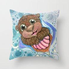Otterly Adorbs Throw Pillow