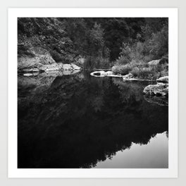 Shoreline Reflection On the Water Art Print