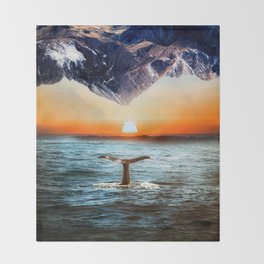 A whale and a morning Throw Blanket