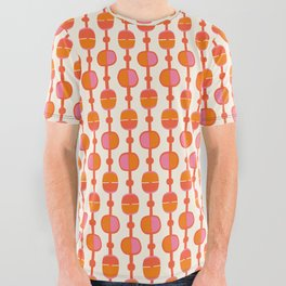 Mid Century Retro Dots All Over Graphic Tee