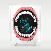 get shit done Shower Curtains featuring Get Shit Done by Kongoriver