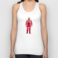pilot Tank Tops featuring pilot by BzPortraits