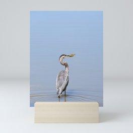 Great Blue Heron Fishing - I Mini Art Print