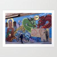 Chinatown San francisco Dragons Art Street Art Print