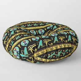 Egyptian  Ornament Symbols Pattern Floor Pillow