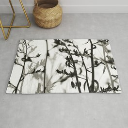 New Zealand Flax silhouettes Rug