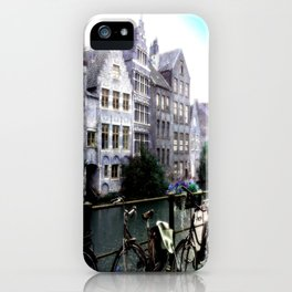 Gent, Belgium Postcard/Print iPhone Case