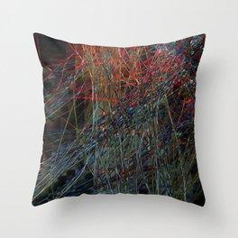Abstract Hair Throw Pillow