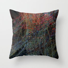 Abstract Hair Throw Pillow