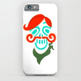 Sir Skull with Mustache  iPhone Case