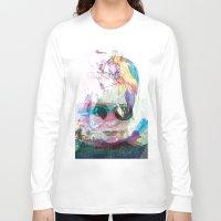 women Long Sleeve T-shirts featuring Women by Oana Popan