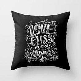 love, Bliss & Magic Throw Pillow