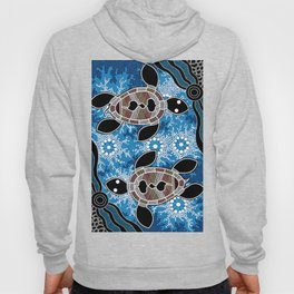 Aboriginal Art - Sea Turtles Hoody