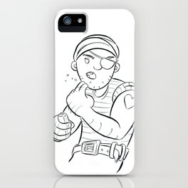 Stowaway Pirate - ink iPhone Case