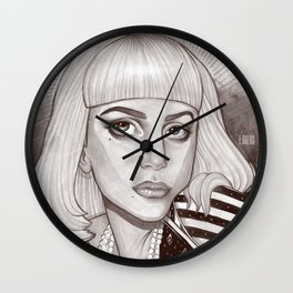 Fame is in your heart Wall Clock