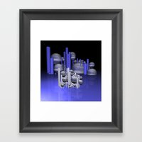 randomly distributed Framed Art Print