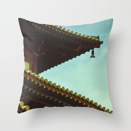 tile roof Throw Pillow