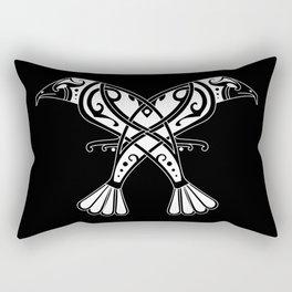 Huginn and Muninn- Two Ravens Rectangular Pillow