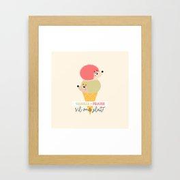 Vanille-fraise Framed Art Print
