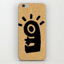 cork paper character iPhone Skin