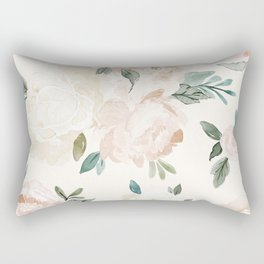 Vintage Blush Floral - softest pastel Rectangular Pillow