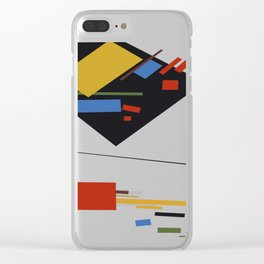 Geometric Abstract Malevic #9 Clear iPhone Case