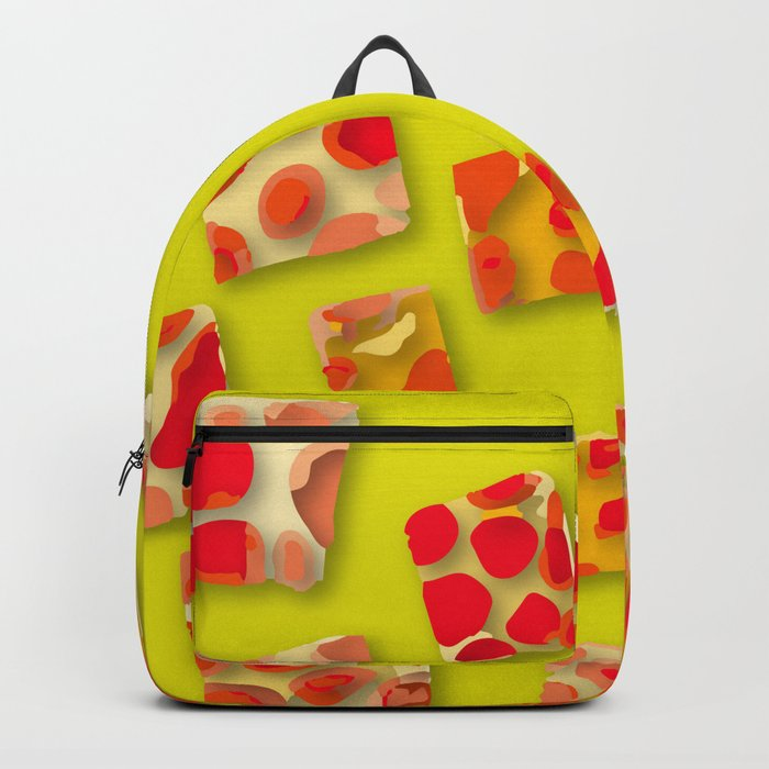 red spotted rectangles Backpack