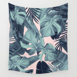 Tropical Summer Jungle Leaves Dream #3 #tropical #decor #art #society6 Wall Tapestry